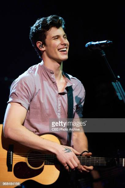 Shawn Mendes performs during The Late Late Show with James Corden Tuesday June 5 2018 On The CBS Television Network