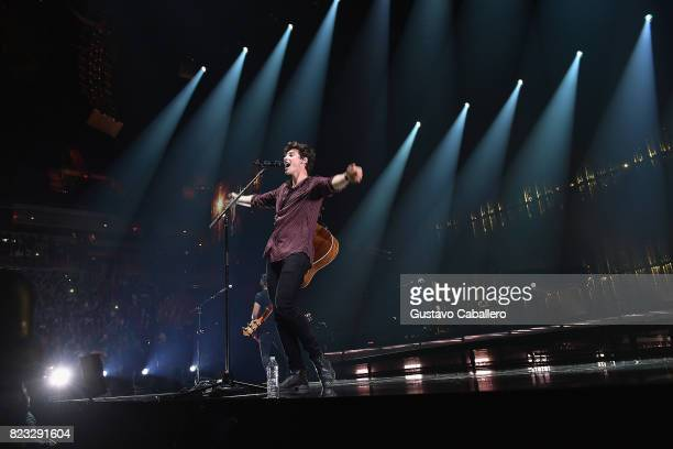 Shawn Mendes performs in concert at American Airlines Arena on July 26 2017 in Miami Florida