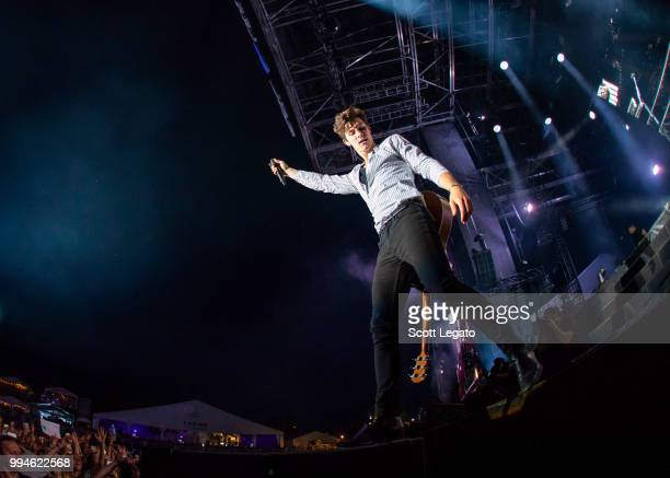 Shawn Mendes performs on Day 4 at Festival d'ete de Quebec on July 8 2018 in Quebec City Canada