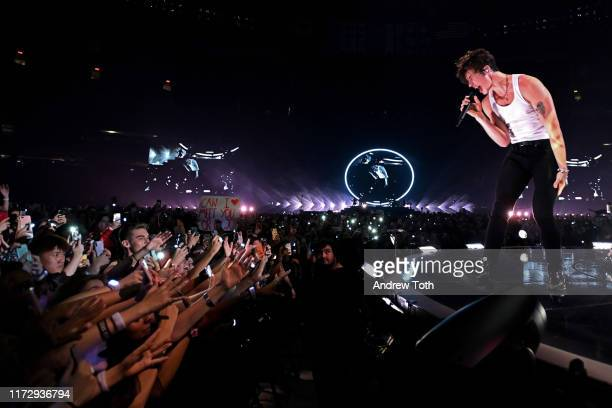 Shawn Mendes performs on stage at Rogers Centre on September 06 2019 in Toronto Canada