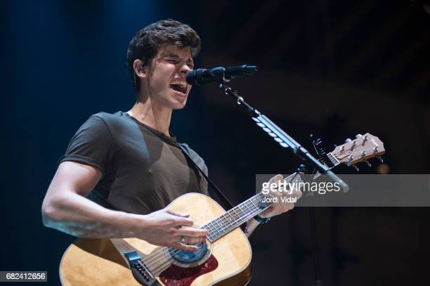 Shawn Mendes performs on stage during his Illuminate World Tour at Palau Sant Jordi on May 12 2017 in Barcelona Spain