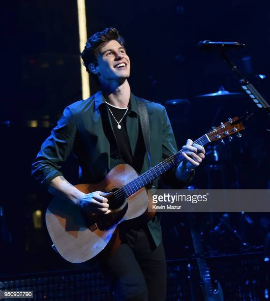 Shawn Mendes performs on stage during the 2018 Time 100 Gala at Jazz at Lincoln Center on April 24 2018 in New York CityÊ