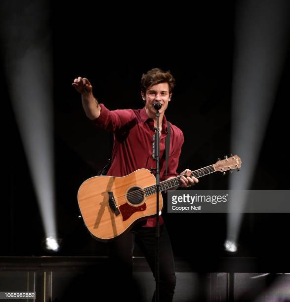 Shawn Mendes performs onstage during 1061 KISS FM's Jingle Ball 2018 at American Airlines Center on November 27 2018 in Dallas Texas