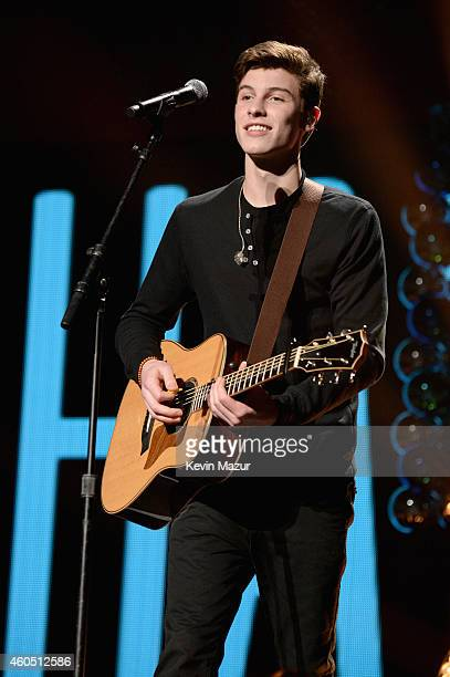 Shawn Mendes performs onstage during HOT 995's Jingle Ball 2014 Presented by Mattress Warehouse at the Verizon Center on December 15 2014 in...