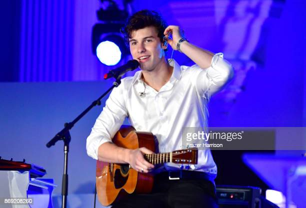 Shawn Mendes performs onstage during Spotify's Inaugural Secret Genius Awards hosted by Lizzo at Vibiana on November 1 2017 in Los Angeles California