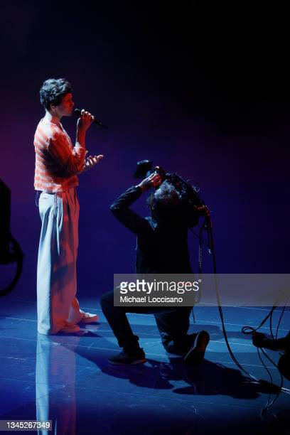 Shawn Mendes performs onstage during the 2021 MTV Video Music Awards at Barclays Center on September 12, 2021 in the Brooklyn borough of New York City