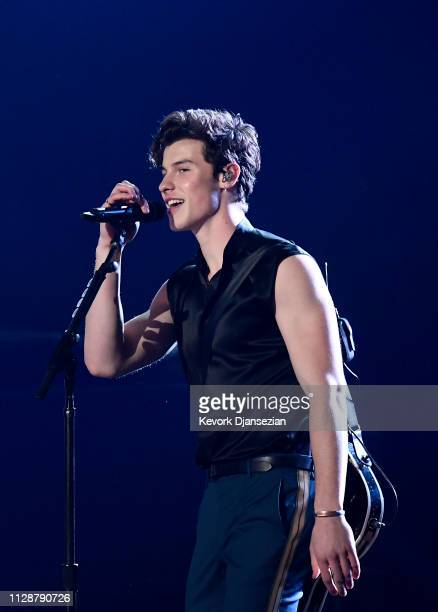 Shawn Mendes performs onstage during the 61st Annual GRAMMY Awards at Staples Center on February 10 2019 in Los Angeles California