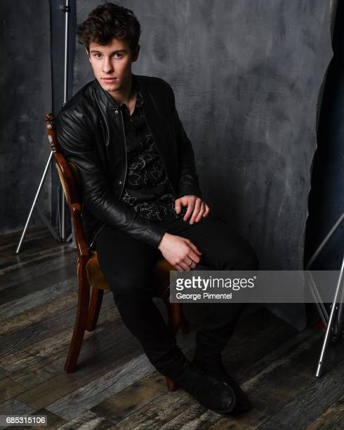 Shawn Mendes poses at the 2017 Juno Awards Portrait Studio at the Canadian Tire Centre on April 1 2017 in Ottawa Canada