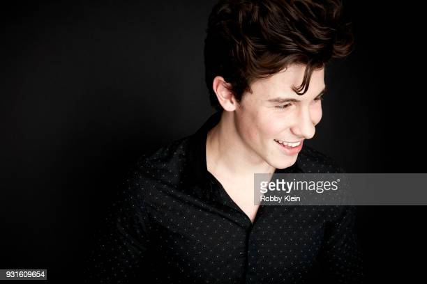 Shawn Mendes poses for a portrait at the 60th Annual GRAMMY Awards I'm Still Standing A GRAMMY Salute To Elton John at The Theater at Madison Square...