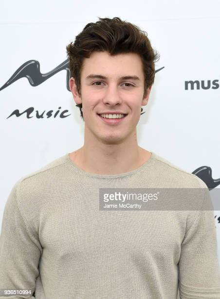 Shawn Mendes visits Music Choice at Music Choice on March 22 2018 in New York City