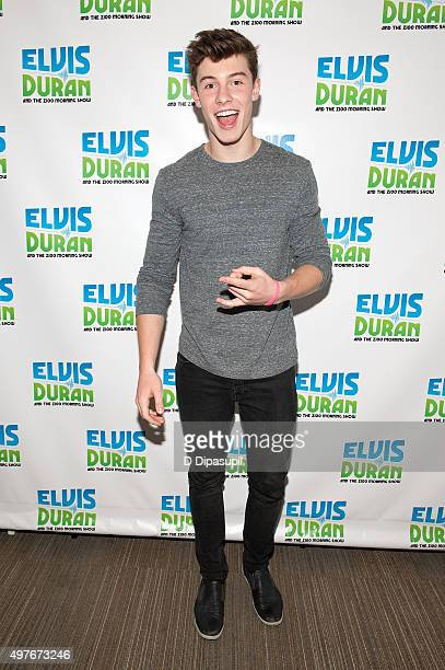 Shawn Mendes visits 'The Elvis Duran Z100 Morning Show' at Z100 Studio on October 23 2015 in New York City