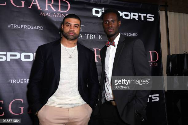 Shawn Merriman and Quintin Williams attend Regard Magazine 2018 NBA AllStar PreParty hosted by Derek Fisher at Soho House on February 15 2018 in West...