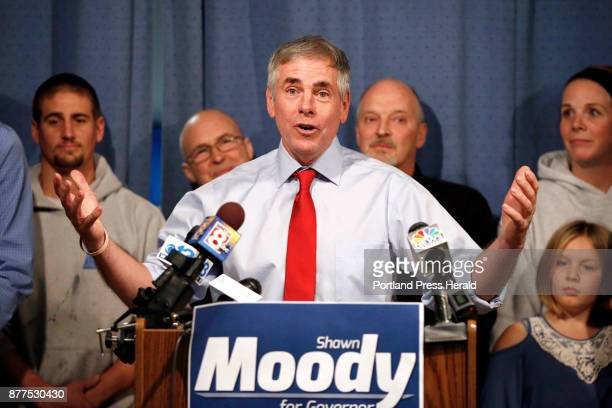 Shawn Moody owner of Moody's Collision Centers announced his candidacy for Maine governor during a noon press conference on Tuesday at his Gorham...