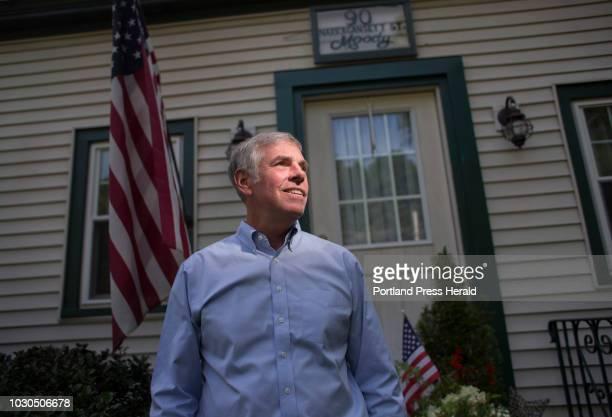 Shawn Moody republican candidate for governor at his childhood home on Narragansett Street in Gorham where his brother Thad still lives