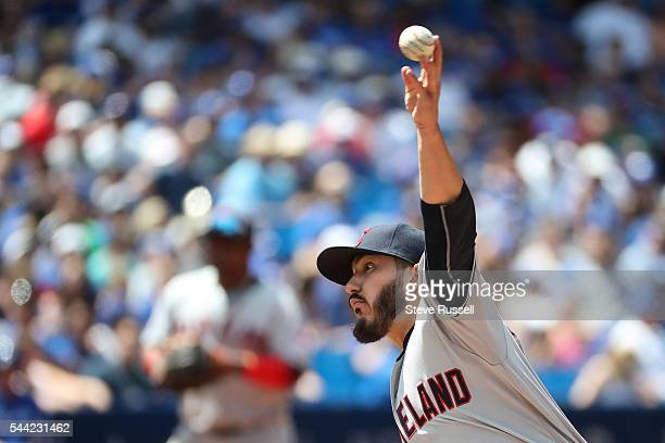 Shawn Morimando makes his MLB debut as the Toronto Blue Jays beat the Cleveland Indians 9-6 to end their 14 game winning streak at the Rogers Centre...