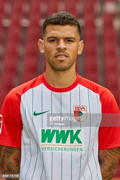 Shawn Parker of FC Augsburg poses during the team presentation at WWK Arena on July 17 2017 in Augsburg Germany