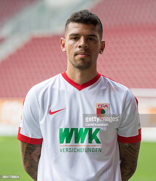 Shawn Parker poses during the Team Presentation of FC Augsburg on July 28 2016 in Augsburg Germany