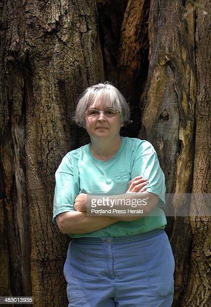 Shawn Patrick Ouellette Friday May 26 2006 Author Tabitha King in front of an old Walnut tree at her home in Bangor