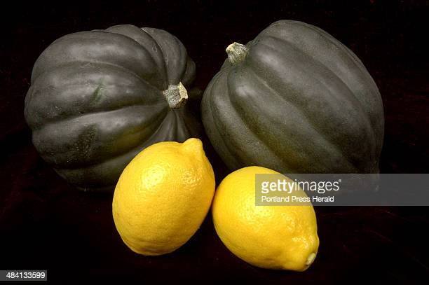 Shawn Patrick Ouellette Tuesday January 4 2005 Food photo for Chef Harry Article Acorn squash with lemons to be used in Cinnamon Sugar Squash