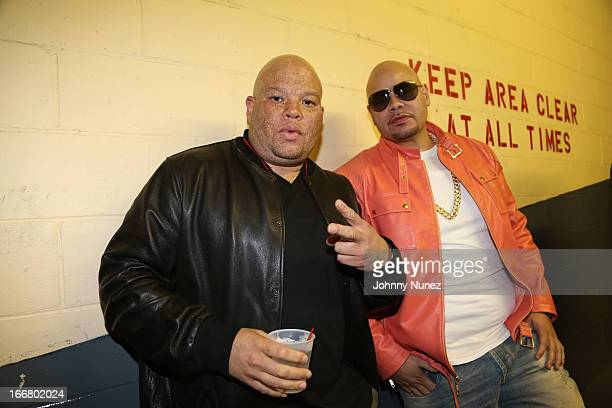Shawn 'Peacas' Costner and Fat Joe attend the 2nd Annual DJ Prostyle's Birthday Bash at Hammerstein Ballroom on April 16 2013 in New York City