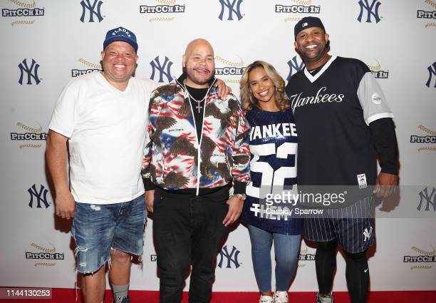 "Shawn ""Pecas"" Costner Fat Joe Amber Sabathia and CC Sabathia attend CC Sabathia Celebrity Softball Game at Yankee Stadium on May 16 2019 in New York..."
