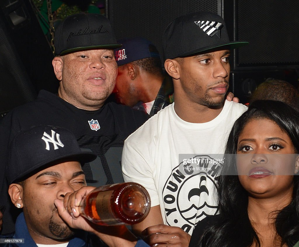 Shawn Pecas, Victor Cruz and Karen Civil attend Young Jeezy And Victor Cruz's Post Super Bowl Party at Greenhouse on February 2, 2014 in New York City.