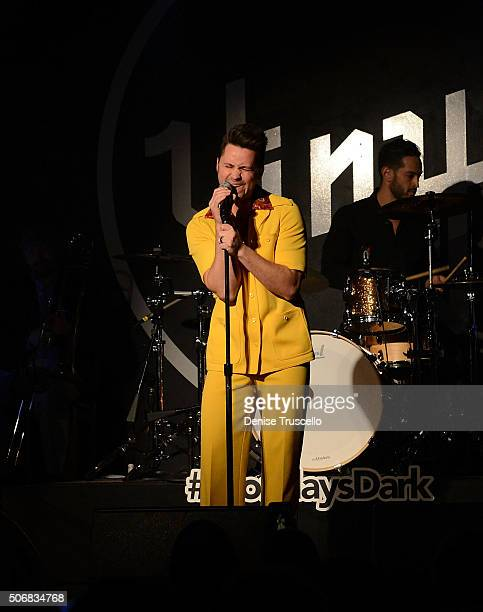 Shawn Perucca performs at Mondays Dark benefitting the Clark County Injured Police Officers Fund At Vinyl In The Hard Rock Hotel and Casino on...