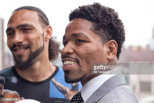 Shawn Porter and keith Thurman face eachother and speak to the Press prior to their WBA Welterweight title fight at The Dream Hotel on June 23, 2016...