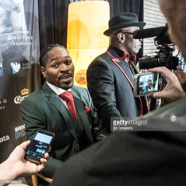 Shawn Porter speaks to the Press during the Final Press Conference for his upcoming fight at Dream Hotel on September 6, 2018 in Brooklyn.