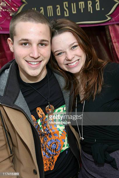 Shawn Pyfrom and Joy Lauren at Kama Sutra during 2007 Silver Spoon Golden Globes Suite Day 1 at Private Residence in Los Angeles California United...