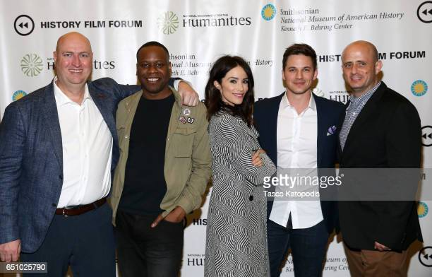 Shawn Rayn Malcolm Barrett Abigail Spencer Matt Lanter and Eric Kripke attend the screening of NBC and Sony Pictures Television Series Timeless at...