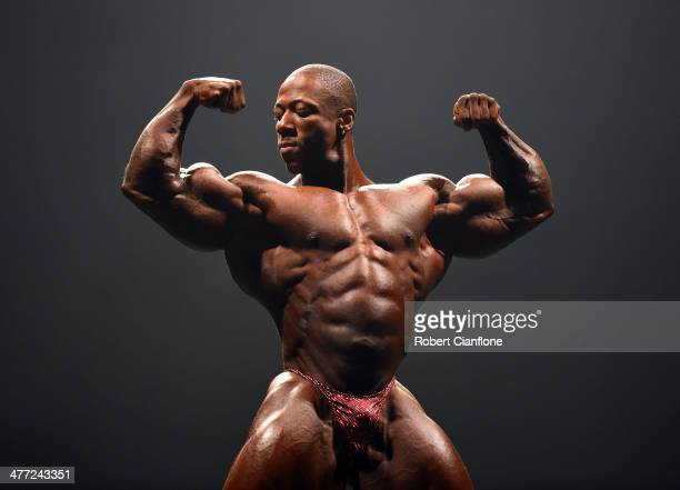 Shawn Rhoden of the USA poses during the IFBB Australian Pro Grand Prix XIV at Plenary Hall on March 8 2014 in Melbourne Australia