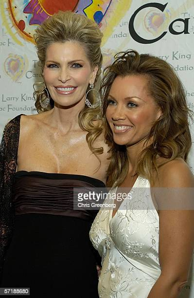 Shawn SouthwickKing and actress/singer Vanessa Williams pose prior to the Larry King Cardiac Foundation's annual 'An Evening with Larry King and...