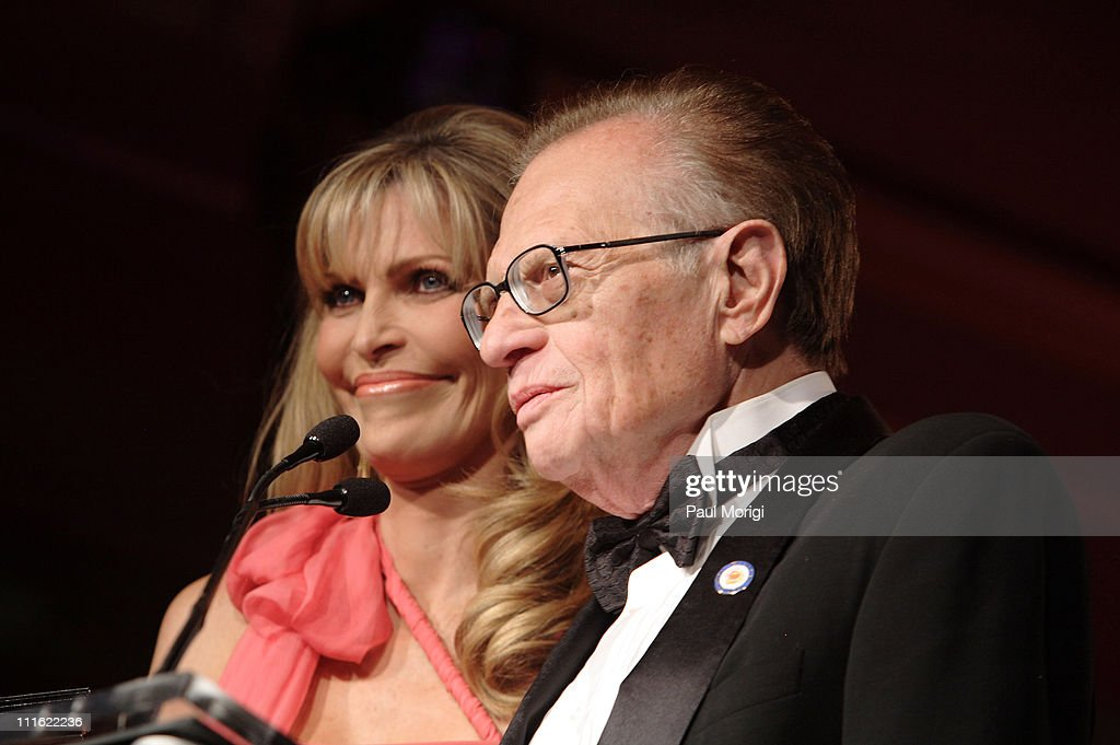 Shawn Southwick-King and Larry King during An Evening with Larry King and Friends at The Ritz Carlton in Washington, DC, United States.