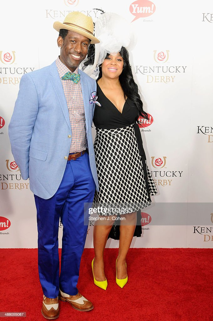 Shawn Stockman and guest attends 140th Kentucky Derby at Churchill Downs on May 3, 2014 in Louisville, Kentucky.