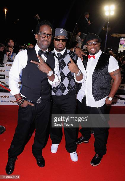 Shawn Stockman Nathan Morris and Wayne Morris from Boyz II Men attend the MOBO Awards 2011 at the SECC on October 5 2011 in Glasgow Scotland