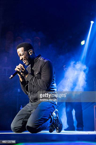 Shawn Stockman of Boyz II Men performs on stage at Albert Hall on December 7 2014 in Manchester United Kingdom