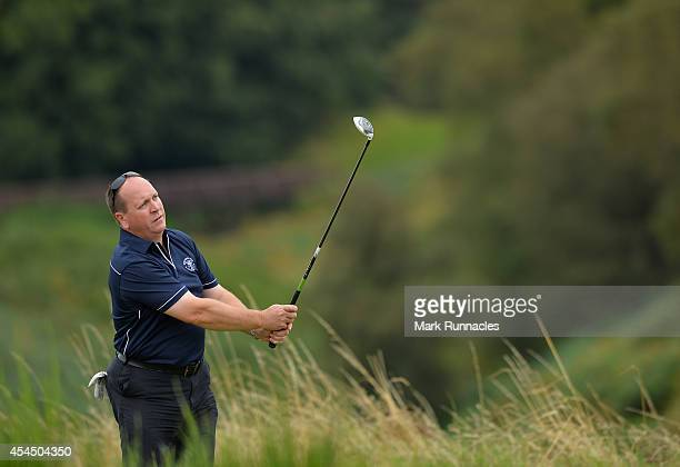 Shawn Thomas of Worcester Golf Country Club during the first round of the Lombard Trophy Grand Final at Gleneagls on September 2 2014 in Auchterarder...