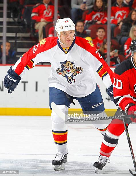 Shawn Thornton of the Florida Panthers in action against the New Jersey Devils at the Prudential Center on January 31 2015 in Newark New Jersey The...