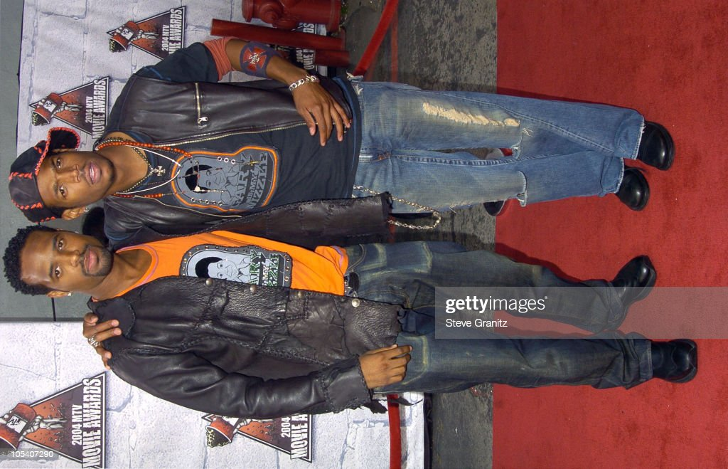Shawn Wayans and Marlon Wayans during MTV Movie Awards 2004 - Arrivals at Sony Pictures Studios in Culver City, California, United States.