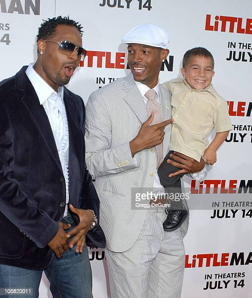 Shawn Wayans Marlon Wayans and Linden Porco during Little Man Los Angeles Premiere Arrivals at Mann National Theatre in Westwood California United...