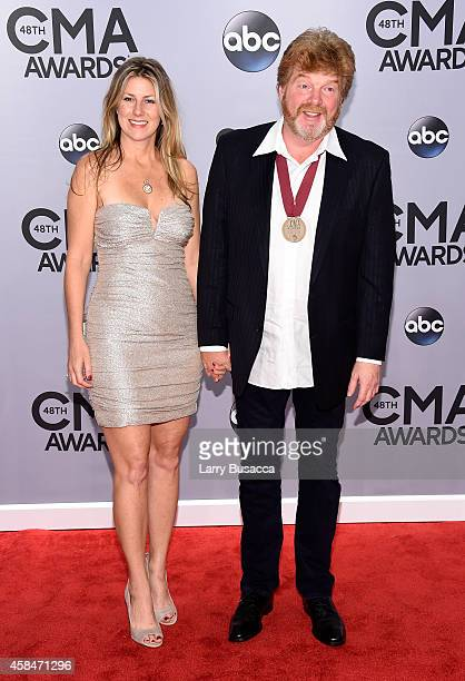 Shawna and Mac McAnally attend the 48th annual CMA Awards at the Bridgestone Arena on November 5 2014 in Nashville Tennessee