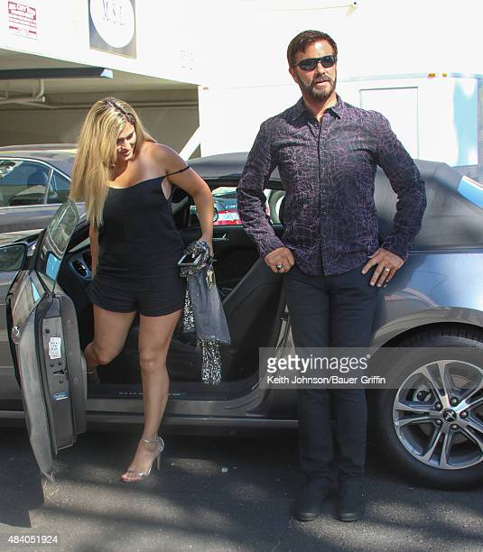Shawna Craig and Lorenzo Lamas are seen on August 14, 2015 in Los Angeles, California.