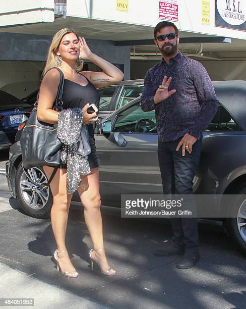 Shawna Craig and Lorenzo Lamas are seen on August 14 2015 in Los Angeles California