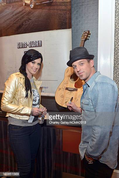 Shawna Thompson and Keifer Thompson of music group Thompson Square attend the Dial Global Radio Remotes during the 48th Annual Academy of Country...