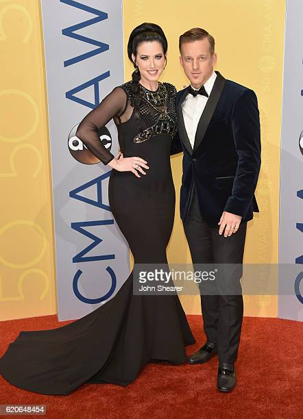 Shawna Thompson and Keifer Thompson of musical duo Thompson Square attend the 50th annual CMA Awards at the Bridgestone Arena on November 2 2016 in...