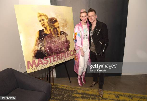 Shawna Thompson and Keifer Thompson of the band Thompson Square attend a listening event for their new album Masterpiece at The Steps at WME on April...