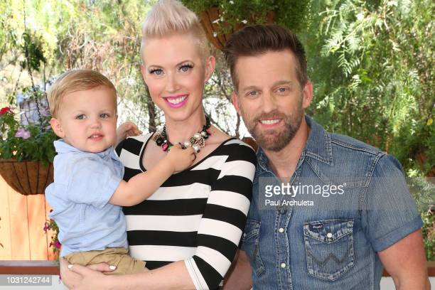 Shawna Thompson and Keifer Thompson of the Country Music duo Thompson Square with thier son Cooper Thompson visits Hallmark's Home Family at...