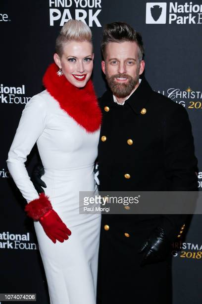Shawna Thompson and Keifer Thompson of Thompson Square attend the 96th annual National Christmas Tree Lighting at The Ellipse in President's Park on...