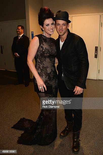 Shawna Thompson and Keifer Thompson of Thompson Square attend the 2014 CMT Music Awards at Bridgestone Arena on June 4 2014 in Nashville Tennessee